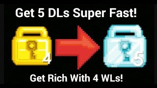 How to Get Rich With 4 WLs | Growtopia