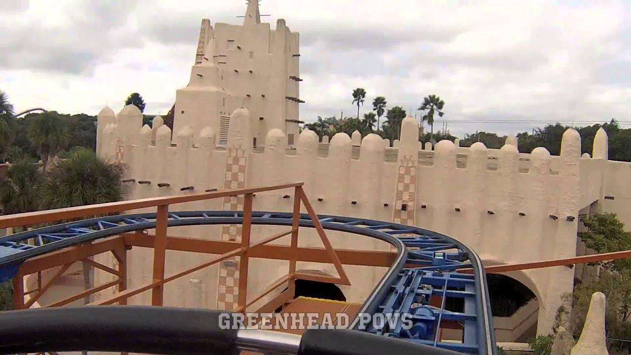Sand Serpent Busch Gardens Tampa POV - YouTube