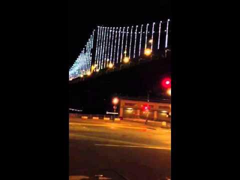 San Francisco Bay Bridge Dancing Lights & San Francisco Bay Bridge Dancing Lights - YouTube