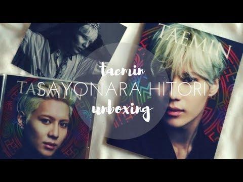 UNBOXING ☆ Taemin (テミン) - Sayonara Hitori (さよならひとり) 1st Japanese Mini Album