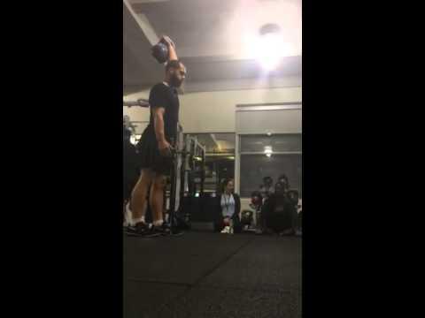 Carter Berry 20kg 10min snatch - rough set