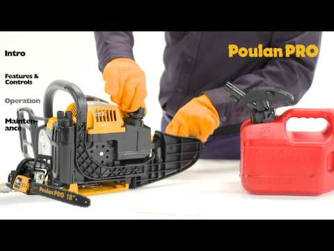 Poulan Pro - Chainsaw Operation