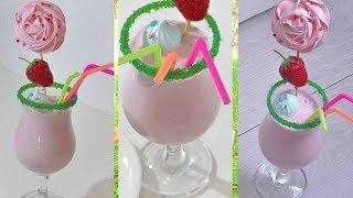 Клубничный коктейль. Strawberry cocktail.