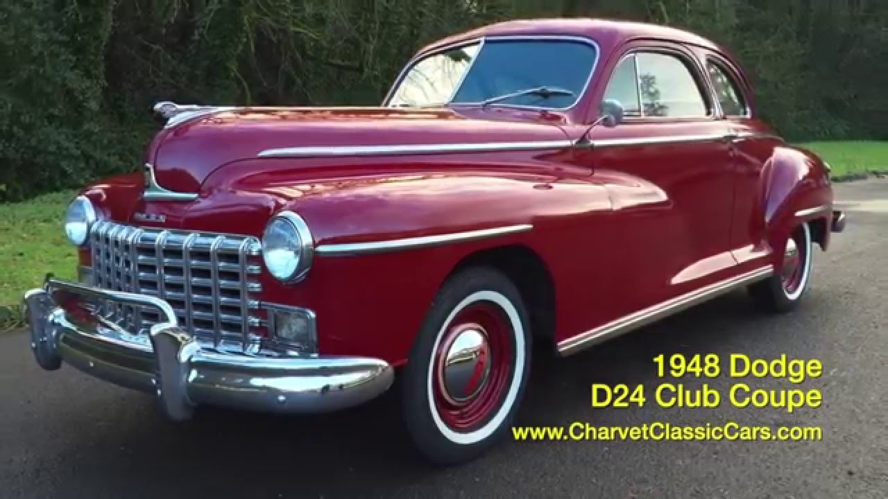 1948 Dodge D24 Club Coupe. Charvet Classic Cars - YouTube