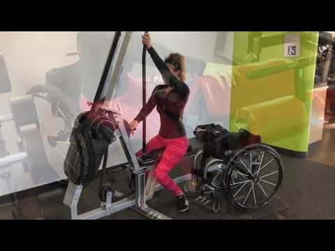 Gym Workouts, in and out of Wheelchair, Tiphany Adams