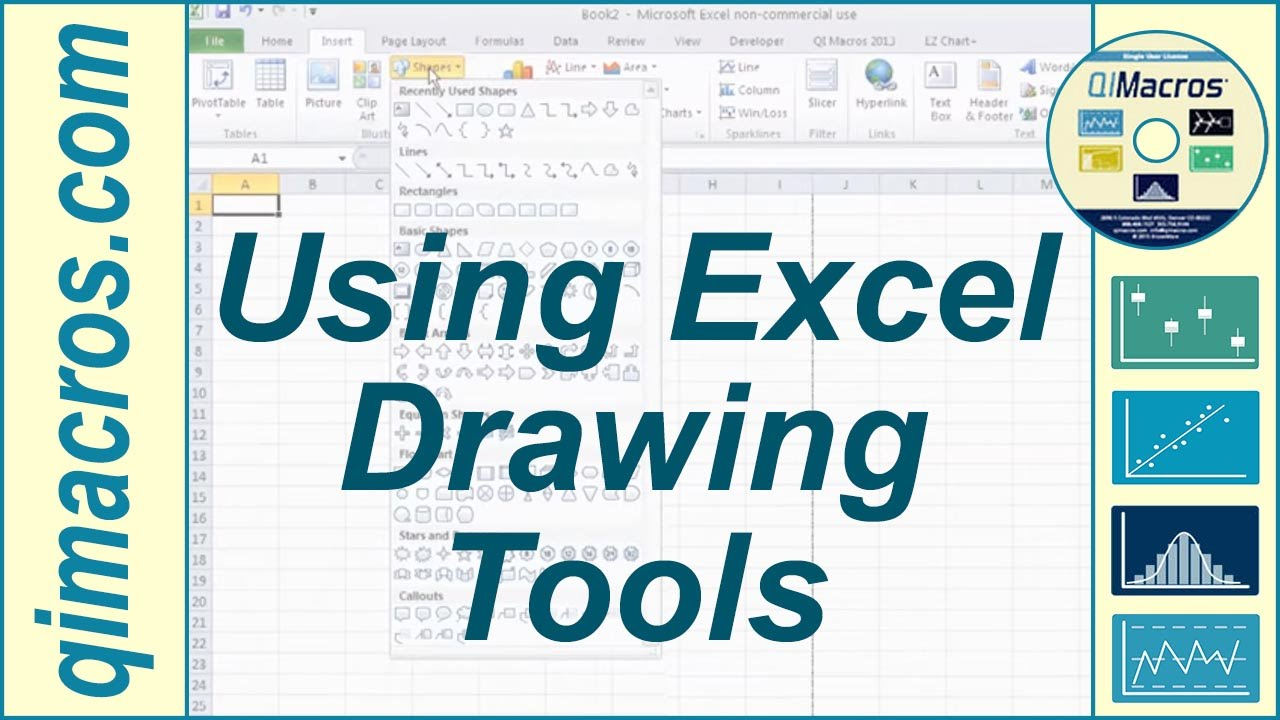 Using Drawing Tools In Excel 2007 2010 And 2013 Youtube Process Flow Diagram Mac