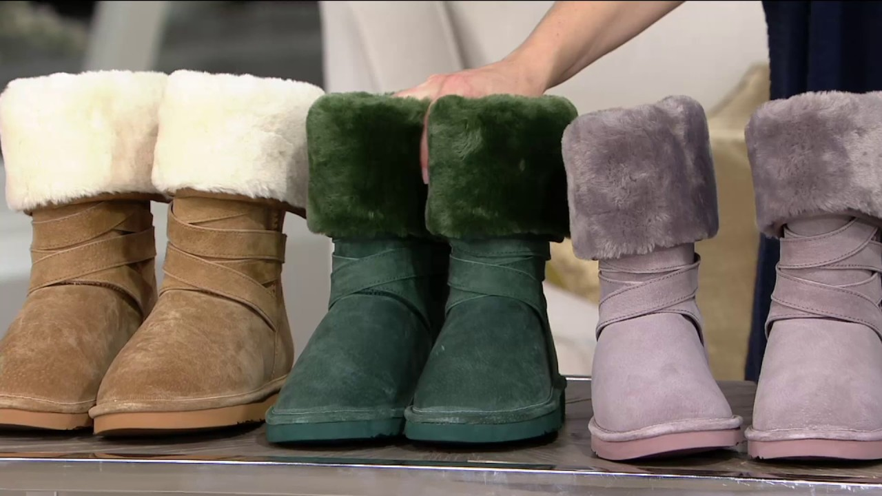 2ccd261d4b3 Lamo Water Resistant Suede Faux Fur Tall Boots - - Savoy on QVC