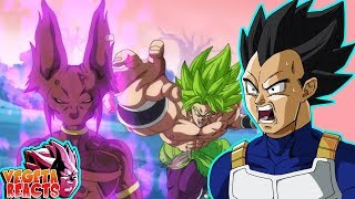 Vegeta Reacts To Beerus Hakaishin VS Broly - Fan Animation - Dragon Ball Super