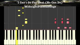 ♫ I Cant Go For That (No Can Do) by Hall & Oates Piano Tutorial In F Minor ♫