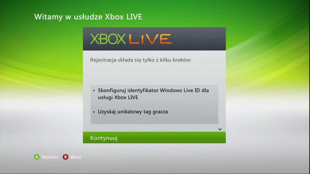 Zakładanie Konta Xbox Live Z Poziomu Konsoli Nowy Dashboard
