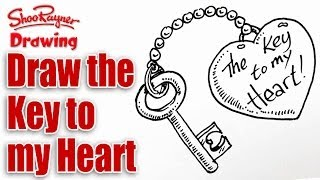 How to draw the Key to your Heart for Valentine