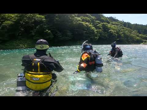 River diving   清流 長良川