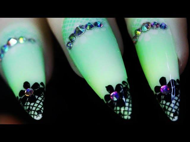 (How To) Elegant Lace Diamond Stamping Nail Artwork for Idea Inspiration