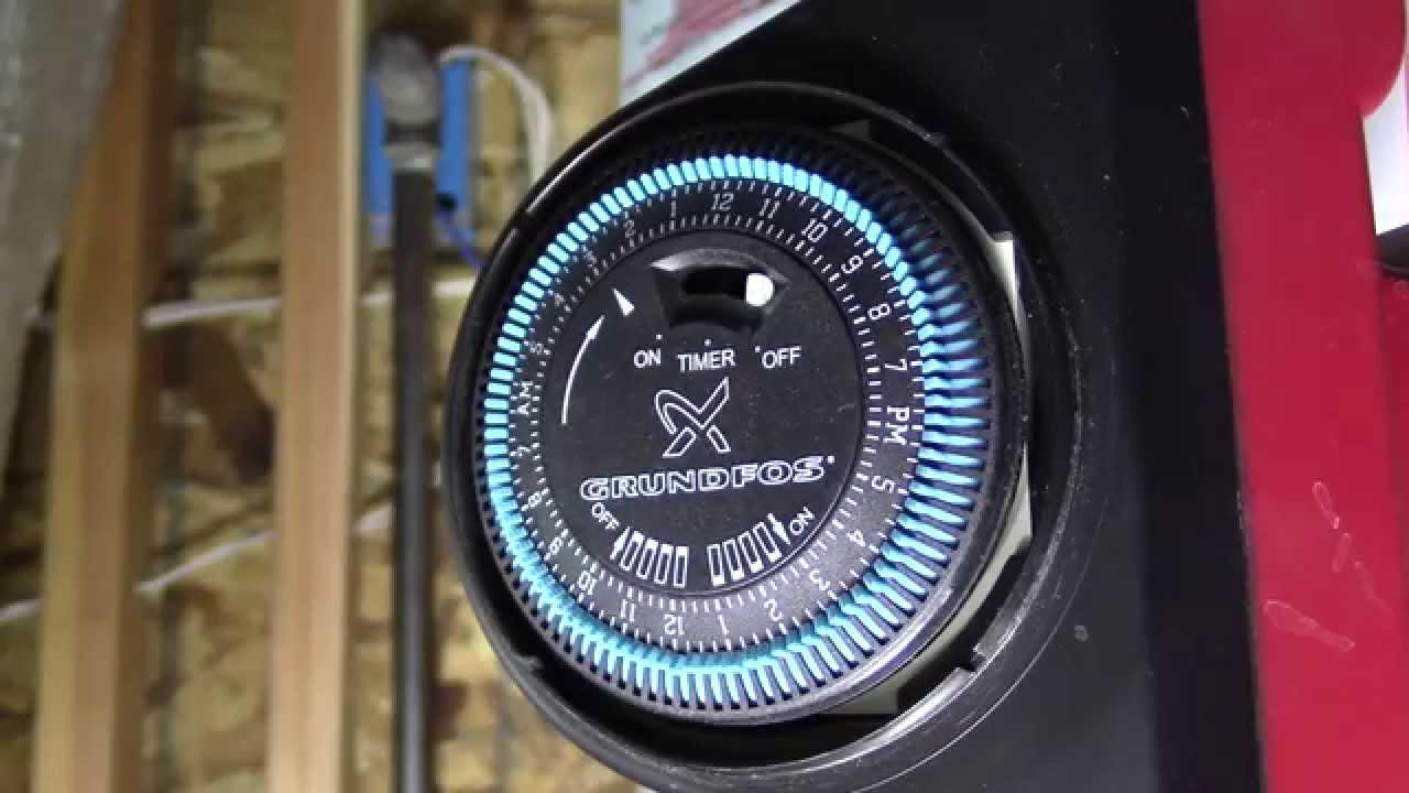 how to program a grundfos water circulation pump timer [ 1280 x 720 Pixel ]