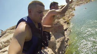 Cliff Jumping With The Fam