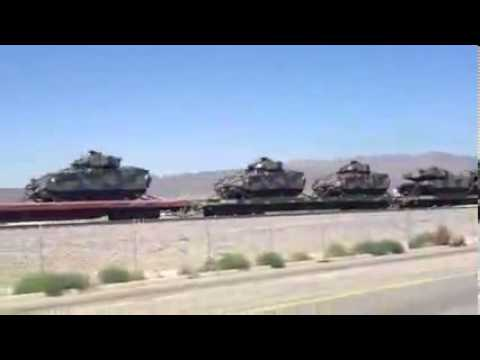 WAKE UP HUNDREDS OF TANKS AND ARMOR MOVING IN CALIFORNIA COMING THROUGH BURBANK