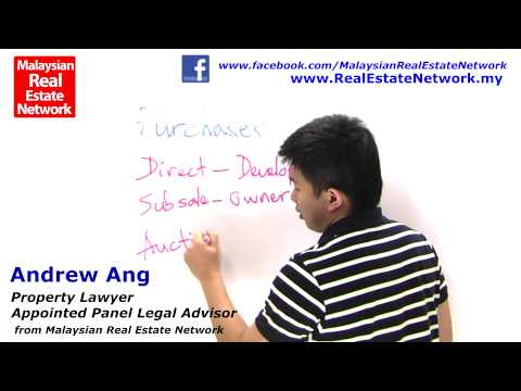 Property Investment Malaysia Legal Tips No 23 - Types of Purchases