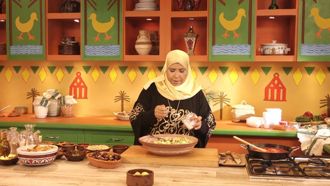 روايح من بلدنا - اطباق مائدة الرحمن فتة لحم + كنافة + كركدية، سلطة - الجزء الثالث