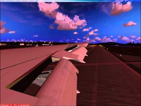 Boeing 747 real landing Zürich (1080p HD)