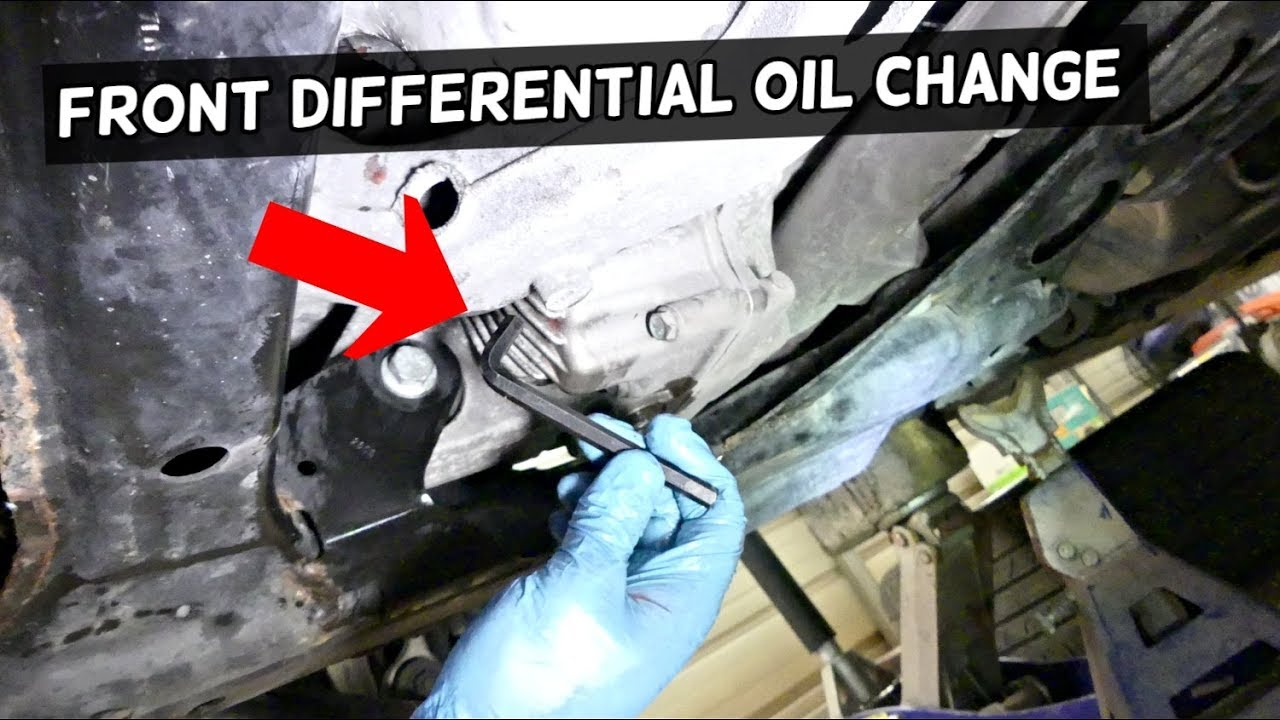 Differential Fluid Change >> HOW TO DRAIN CHANGE FRONT DIFFERENTIAL OIL FLUID ON ...