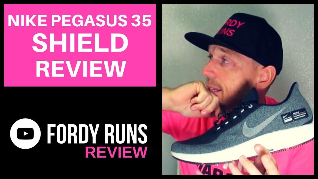 Nike Pegasus 35 SHIELD REVIEW - YouTube