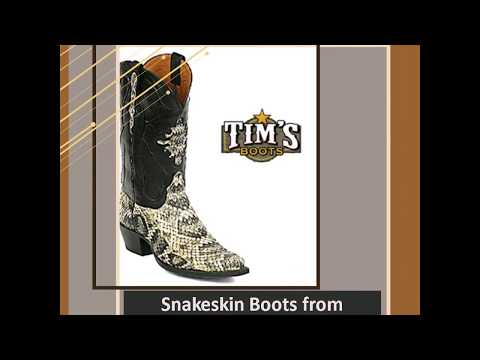 Snakeskin Boots from Timsboots.com