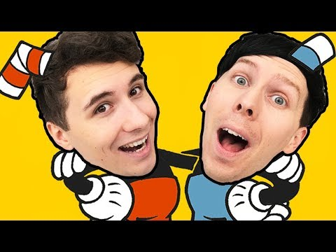 Thumbnail: Dan and Phil are.. CUPHEAD AND MUGMAN