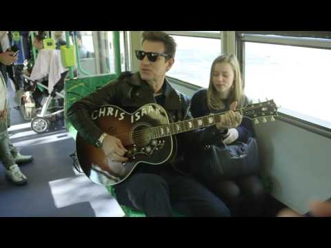 A nice day for some lucky Melbourne commuters surprised by superstar Chris Isaak! #HaveANiceDay