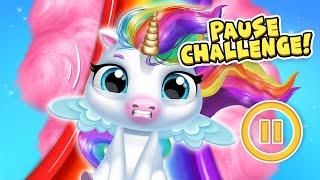 Fun PAUSE CHALLENGE 😆 Panda Lu Pranks My Baby Unicorn | TutoTOONS Cartoons & Games for Kids