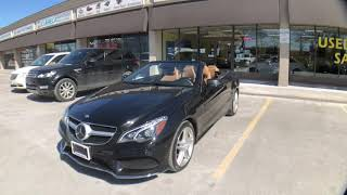 2014 Mercedes Benz E550 convertible for sale review - summer 2018 - TopBillin Auto Sales Toronto