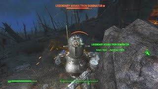 What Happens If We Take On A Legendary Assaultron Dominator Unarmed in Fallout 4