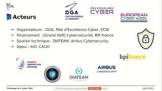 Finale Challenge IA Cyber 2020 Partie1/7 Présentation