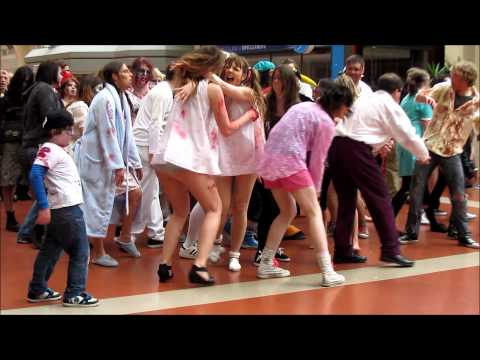 Zombie Flash Mob Wellington Train Station [Full HD] Travel Video