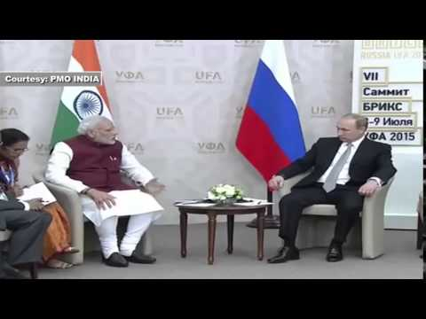 PM Shri Narendra Modi meets President of Russia Vladimir Putin