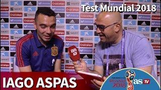 El test de Iago Aspas en el Mundial 2018: