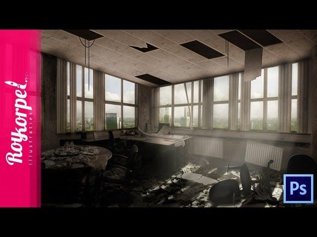 Abandoned Office - Photoshop speedart - time-lapse