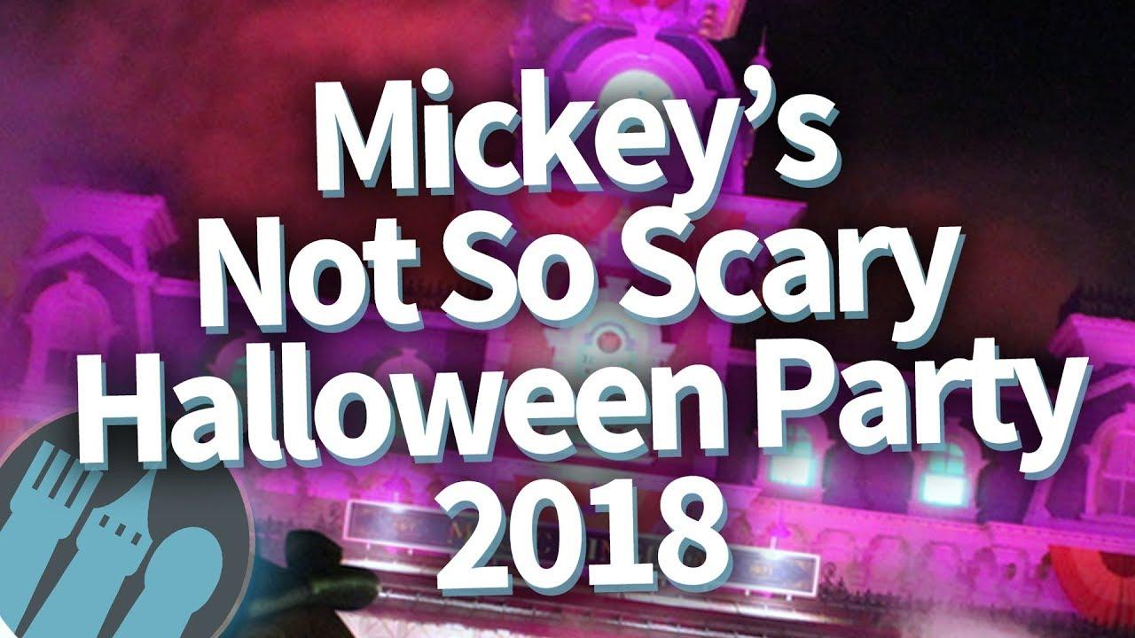 disney world mickey's not so scary halloween party 2018 -- full