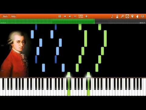 W.A. Mozart - Eine Kleine Nachtmusik (Complete) [Synthesia Piano Solo Tutorial]