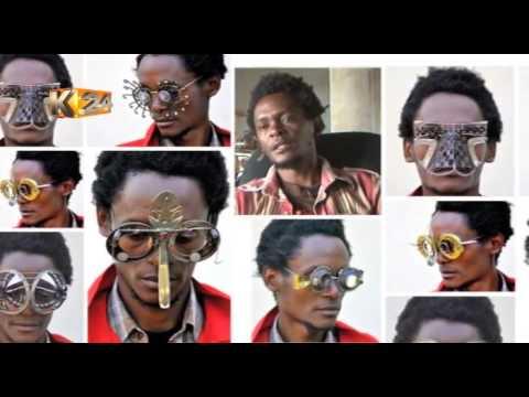 Meet Cyrus Kabiru who recycles trash to create striking artwork