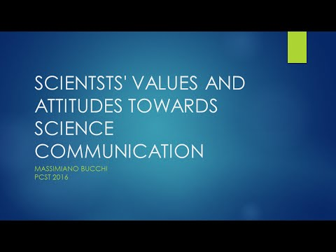 Scientists in public communication