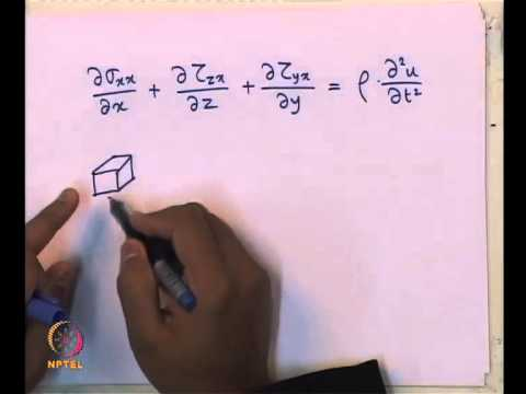 Mod-03 Lec-15 L15-3 Dimensional Wave Propagation, Waves in semi-infinite media, Rayleigh Wave