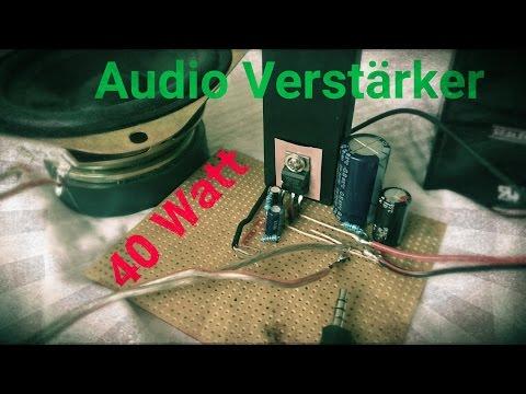 Audio Verstärker selber bauen 40 Watt TDA2051