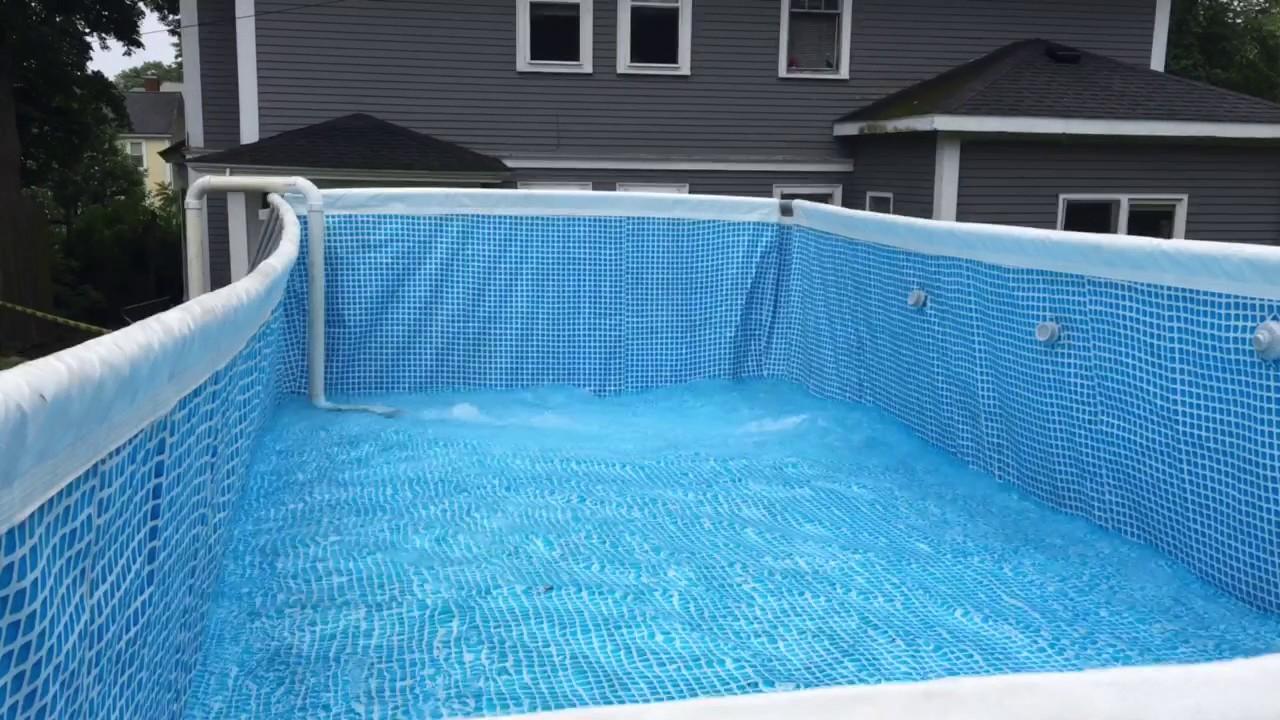 Pool Intex 12x24 Quick Water Fill Video Youtube