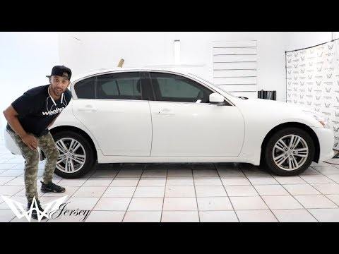 How To Remove Tint From Car Windows >> Window Tint 20% & 50% windshield on a 2011 Infiniti G35x - YouTube