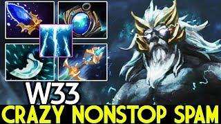 W33 [Zeus] Crazy Nonstop Spam Skill 70K Damage 7.23 Dota 2