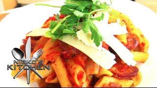Chorizo & Roast Vegetable Pasta - Video Recipe