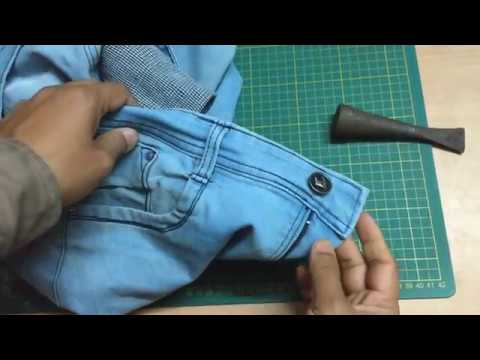 How To Fix Button On Jeans Pants