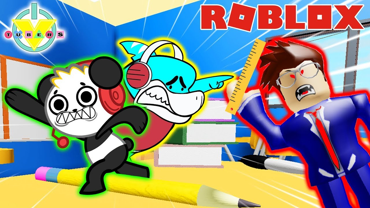 Roblox Escape School Obby Lets Play With Combo Panda Escape Shrunken School In Roblox Let S Play With Combo Panda Vs