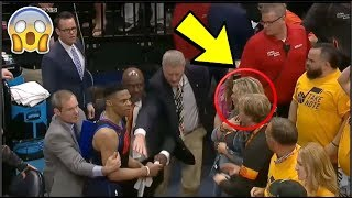 """Russell Westbrook SNAPS At Utah Jazz Fans """"GET THAT SH*T OUT OF MY FACE BRO"""" 🤣💀"""