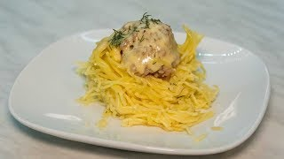 Гнезда с мясом рецепт с сыром готовим на сковороде быстро на ужин